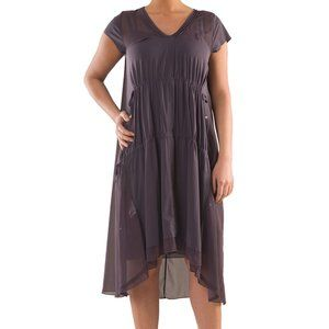 Plus Size Layered Cape Dress - La Mouette